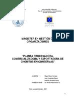 Plan de Negocios Planta Procesadora y Comercializadora de Conservas