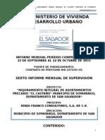 6to Informe Mensual El Castaño