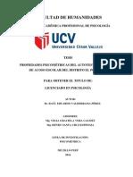 VPROPIEDADES PSICOMÉTRICAS DEL AUTOTEST DE CISNEROS DE ACOSO ESCOLAR DEL DISTRITO EL PORVENIR