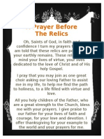 Prayer Before the Relics