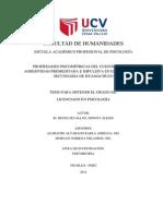 PROPIEDADES PSICOMÉTRICAS DEL CUESTIONARIO DE AGRESIVIDAD PREMEDITADA E IMPULSIVA EN ESTUDIANTES DE  SECUNDARIA DE HUAMACHUCO