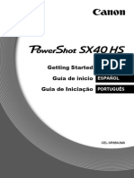 PowerShot SX40 HS GettingStarted MultiLanguage ES PT v1.0