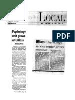 Psychology at UMass Grows