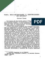 Perú, multietnicidad y centralismo de Estado