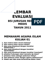 Lembar Evaluasi RM 2011
