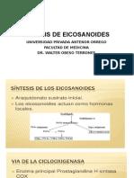 síntesis de eicosanoides
