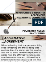 affirmative & Negative Agreement