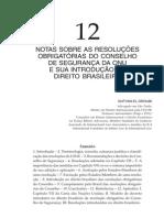 DROUBI Notas Sobre as Resoluções Obrigatórias Do CSNU