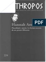Revista Anthropos, 224, Hannah Arendt
