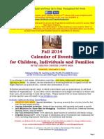 Calendar of Events - November 8, 2015