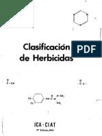 Clasificacion de Herbicidas