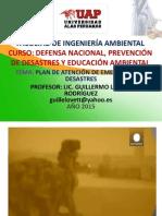PLAN DE ATENCION DE EMERGENCIAS Y DESASTRES