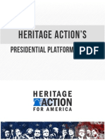 Heritage Action PRESIDENTIAL PLATFORM REVIEW