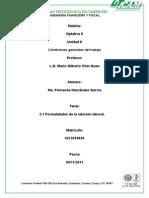 2.1 Formalidades de La Relación Laboral