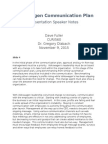 aet560 communication plan speaker notes