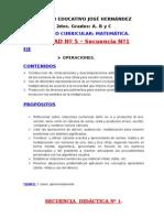 Unidad Nº 5 – Secuencia Nº1 Operaciones El Doble