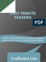 Last Minute Teasers Revised