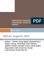 Pengaruh Bahan Organik Terhadap Sifat Biologi Tanah