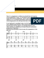 Jazz Guitar Chord Progressions 1
