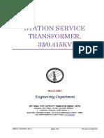 Station Service Transformer