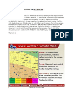Potential Weather on Wednesday, November 11