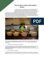 Tips Untuk Memulai Bisnis Kuliner Oleh Chandra Ekajaya