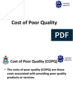 Cost of Quality Final Six Sigma SDC