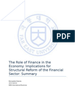The Role of Finance in the Economy