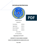 Distributed Lubricant Sale Point System Title Pages
