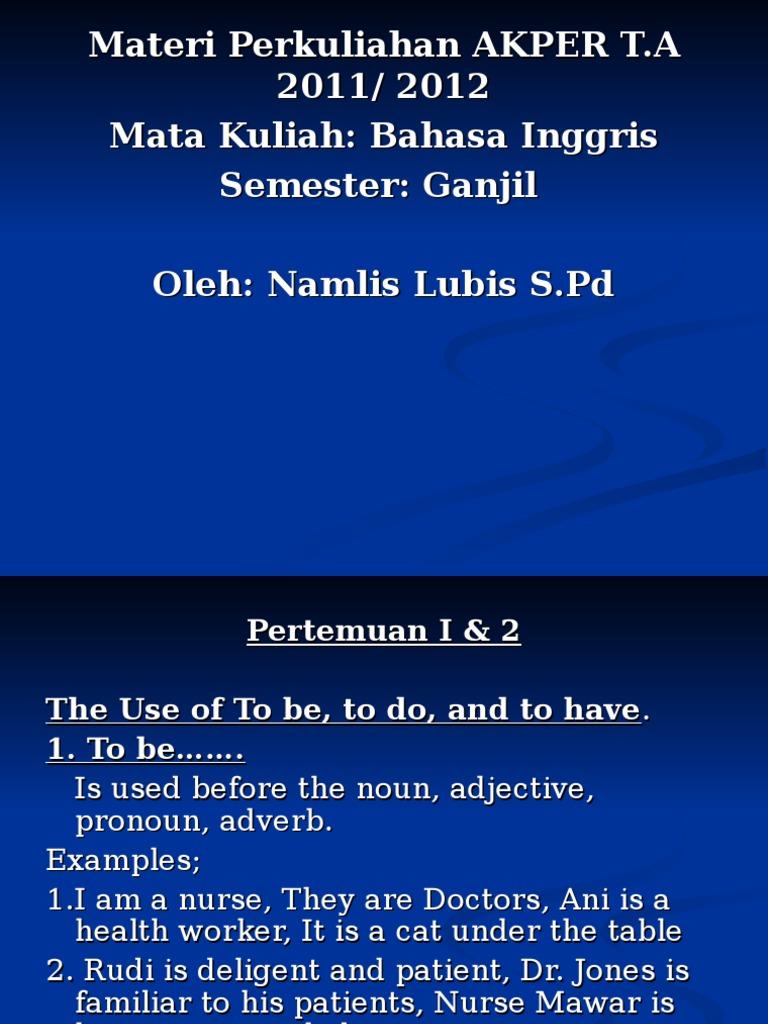 95878210 Bahasa Inggris Pronoun Grammatical Tense