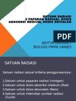 Satuan Radiasi Dan Dosis