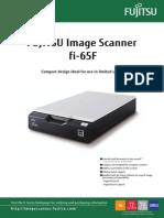 Fujitsu Fi-65F A6 Compact Flatbed Image Scanner