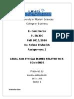 E-Commerce - Assignment 2