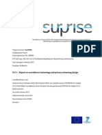 SurPRISE D3.1 Report on Surveillance Technology and Privacy Enhancing Design