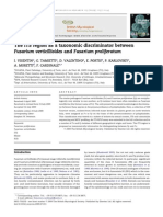 ITS Region as Taxonomic Discriminator in Fusarium