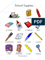 School Supplies Vocabulary