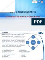 IBN Quant Research & Analysis Service 2015