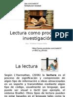 Lectura Como Proceso de Investigacion y Monografia
