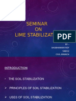 Project report/Seminar on Lime Soil Stabilization