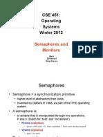 Semaphores and Monitors