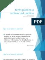 Interés Público e Interés Del Público