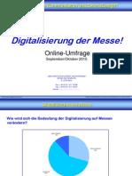 Digitalisierung der Messe