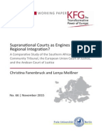 Supranational Courts as Engines for Regional Integration? A Comparative Study of the Southern African Development Community Tribunal, the European Union Court of Justice, and the Andean Court of Justice