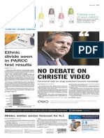 Asbury Park Press front page Tuesday, Nov. 10 2015