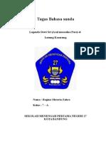 Tugas Bahasa Sunda EGI