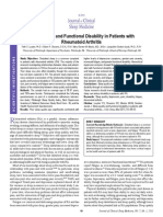 Sleep Quality and Functional Disability in Patients With