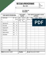 Formular Necesar Mai 2015