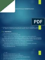 Etapele DETAPELE DIAGNOSTICULUI HEMATOLOGIC iagnosticului Hematologic II