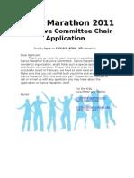 Dance Marathon 2011 Exec Member Application