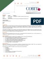 Cobit 5 schedule